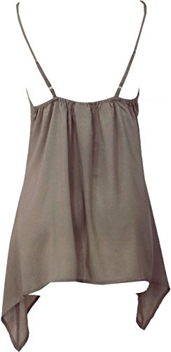 Guru-Shop Hippie Goa Top, Damen, Türkis, Synthetisch, Size:38, Tops, T-Shirts, Shirts Alternative Bekleidung Beige