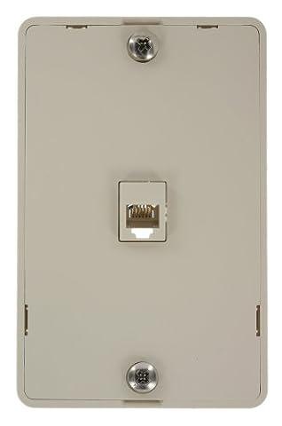 Leviton 40216-T Telephone Wall Jack, Light Almond