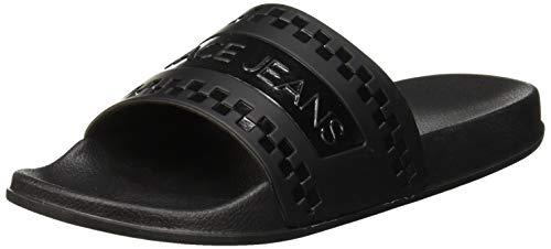VERSACE JEANS COUTURE Herren Shoes Zehentrenner, Schwarz (Nero 899), 42 EU