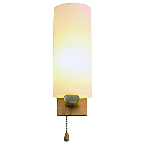 Moderna Personalità Bed suono e il controllo della luce della lampada da parete di telecomando LED legno Soggiorno Camera dimmerabili Lamp Hotel camera da sposa lampada creativa decorazione della parete