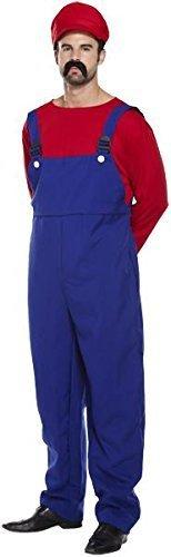 Super Arbeiter Kostüm rot