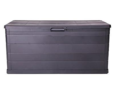 Kissenbox Auflagenbox Gartentruhe Terrassenbox Elegance schwarz abschließbar