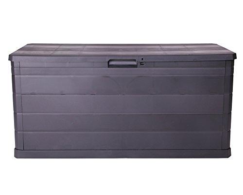 Ondis24 Kissenbox Auflagenbox Gartentruhe Terrassenbox Elegance schwarz abschließbar