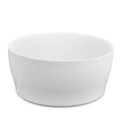 VECA Geda 27280-W Living Coupelle ronde pour 3 pots de fleurs de 12 cm Blanc très brillant 28 x 13 cm