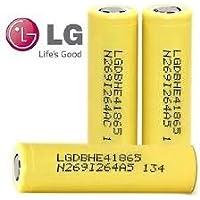 3x LG HE418650ricaricabile ad alta scarico 35A batterie Flat Top batteria 2500mAh in vera custodia Pure Power® Batteria
