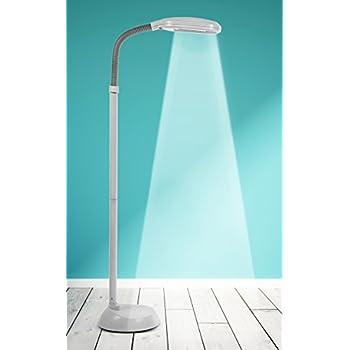Kenley natural daylight floor lamp 27w energy saving bulb adjustable gooseneck arm standing reading task craft hobby light for living room