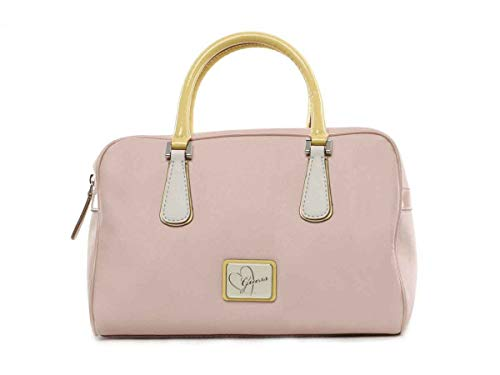 Guess Sac à Main Leandra Box Satchel Pink Multi