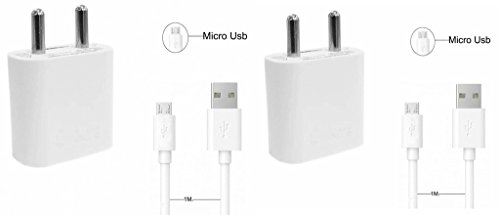 Apple iPhone 5C 32GB compatible 2 in 1 USB High Speed Charger Kit Of Micro USB Cable + USB Adapter All Android Smartphones (White) combo by mobicell  available at amazon for Rs.749