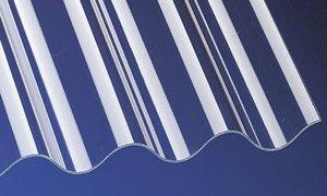 PVC Wellplatten Profilplatten P5 Sinus 177/51 klar ohne Struktur 2000 x 920 mm