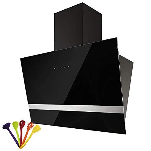 b-zweb 630m³/h cappa cucina scarico Hood Range Hood 165W 60cm classe A pannello touch 3livelli di potenza in vetro (bianco/nero) Nero