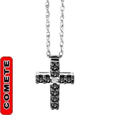 Comete collana uomo ugl 458 croce con diamanti