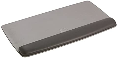 3M Gel Wrist Rest for Keyboard WR420LE - Keyboard platform with wrist pillow - black, metallic grey
