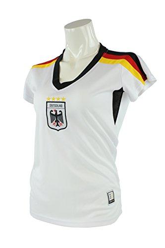 MC-Trend-Handels GmbH Camiseta para mujer de la equipación de Alemania de la Eurocopa 2014, mujer, blanco, small