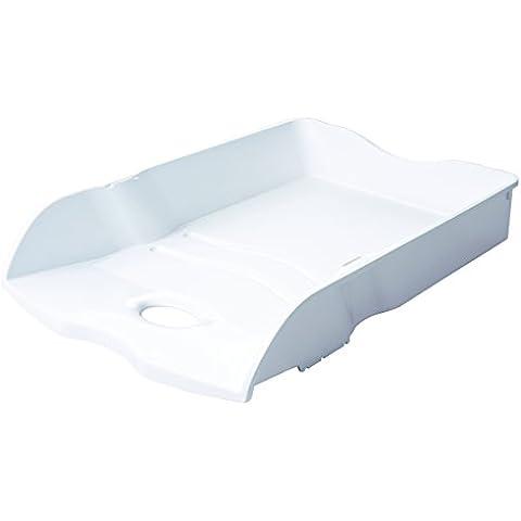 HAN Loop - Bandeja de escritorio (Color blanco, De plástico, Poliestireno, C4, Carta)