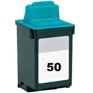 1x Lexmark 50 Cartouche d'encre Compatible pour Imprimante Lexmark: Z12 / Z22 / Z32 / Z700 / Z703 / Z705 / Z708 / Z715 P122 / P3120 / P3150 / P700 / P703 / P704 / P705 / P706 / P707 / P708 CJP 3100