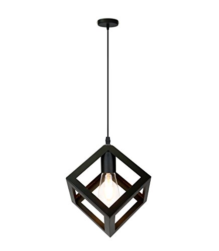 FBL® Lampada sospesa retrò Vintage Edison Paralume in metallo, Plafoniera industriale lampadario attacco E27