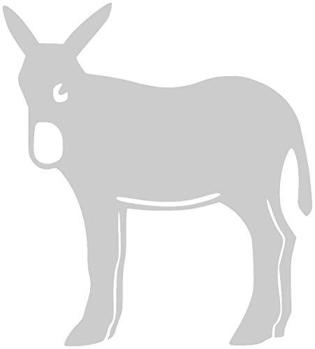 Samunshi® Katalanischer Esel Aufkleber Eselaufkleber in 7 Größen und 25 Farben (23x25cm silbermetalleffekt)