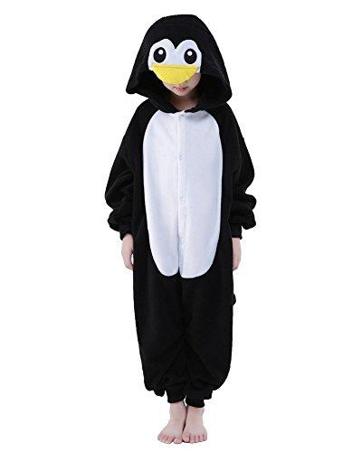 Pyjamas Combinaisons Animaux Garçons Filles Dormeurs Kigurumi Enfants Pyjamas Vêtements Onesie (Pingouin, 115 Adapté pour hauteur 126-137CM)