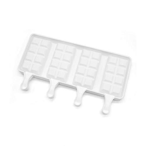 Handgefertigte Seife Bars (EZIZB 3 Kapazität Handgefertigte Silikon-EIS Am Stiel-Form Für Eiscreme-Bar Ice Pop Gefrorener Joghurt DIY Süßigkeiten Schokolade Seife Geleeform Tablett)