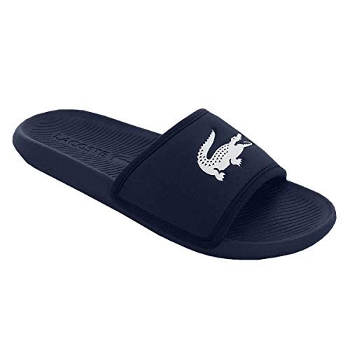 Lacoste Herren Croco Slide 119 3 CMA Flip Flops - Marine/Weiß - UK 8