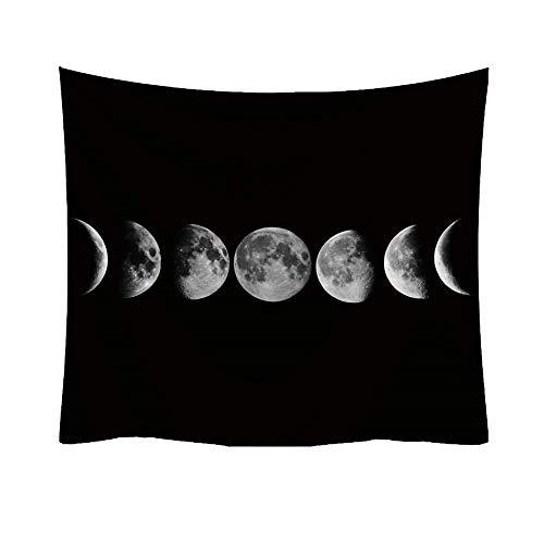 Preisvergleich Produktbild Qmber 2019 Milchstraße Wandteppich Sterne Weltraum Wandbehang aus Polyster Strandtuch Schöne Wanddeko für Ihr Schlafzimmer Wohnzimmer Mond Mode Tapisserie Muster C1