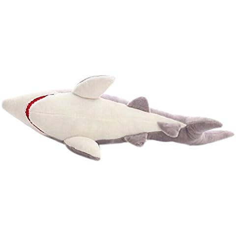 FAMILIZO Los tiburones linda muñeca de la felpa de mar Mandíbulas almohada Peluches suaves juguetes de peluche (M)