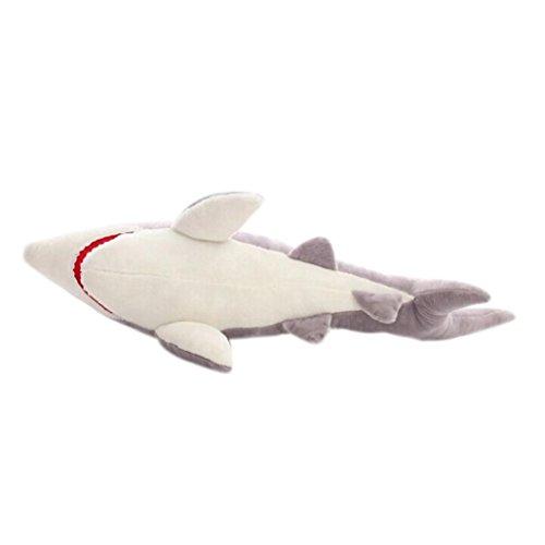 FAMILIZO Los tiburones linda muñeca de la felpa de mar Mandíbulas almohada Peluches suaves juguetes de peluche (L)
