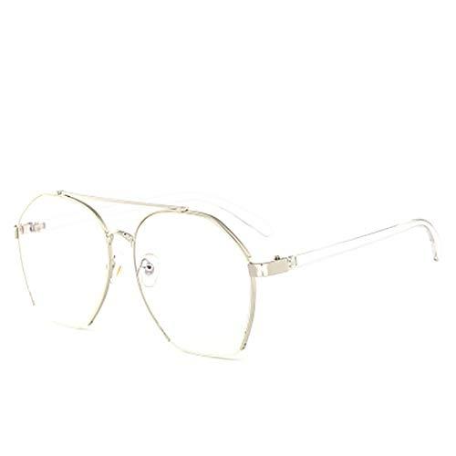 FYrainbow Sonnenbrille, stilvolle Sonnenbrille transparente Linsen Anti-Brirey-Wohnung am besten für den Angeln Golf Outdoor-Reisen Shopping,D