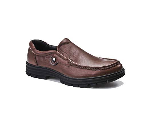 Marrone marrone scuro nero serie di scarpe da uomo con la spessa suola da uomo delle quattro stagioni casual indossabile semplice,brown-43eu