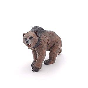 Papo- Cave Bear Figura Oso cavernario 13,5X5,5X8,5CM, Multicolor (55066)