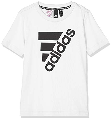 adidas Jungen Must Haves Badge of Sport T-Shirt, White/Black, 128