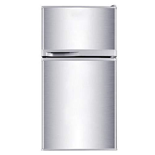 Kühlschrank 2-Schicht-Doppeltür Haushalt Energiesparender Kühlschrank und Gefrierschrank Edelstahlkühler Heizung und Kühlung Mineralwasser Getränke Kaffee Obst- und Gemüsekonservierung Lagerkühlschran