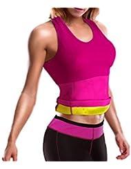 beautytherm sl106r–Juego de pantalón + camiseta de sudación para mujer, color rosa, tamaño S-M (talla del fabricante: S-M)