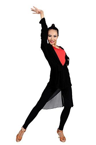 G1026 professionnelle classique Universel Halter shirts tricot en coton de Danse standard internationale latine Latin moderne Ballet et Danse standard La balle Bal Fête soirée Convient pour printemps  black