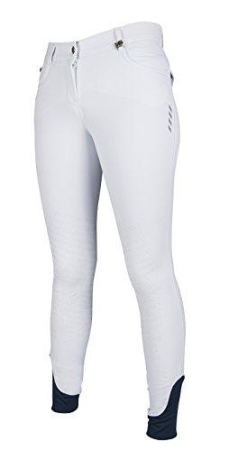 HKM PRO-Team Reithose -Neon Sports- Silikon Kniebesatz, weiß, 34