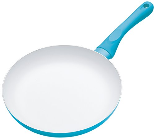 KitchenCraft Colourworks Non-Stick Ceramic Frying Pan, 24 cm - Blue