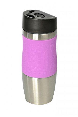 Wellgro® - Termo, 400ml,acero inoxidable, sin BPA, vaso aislante, color a elegir Rosa