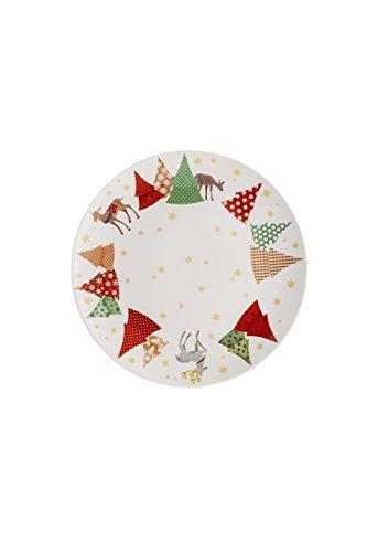 Hutschenreuther sammel série O de Chansons de Noël Sapin Assiette plate 22 cm, Porcelaine, multicolore, 23 x 22 x 3 cm