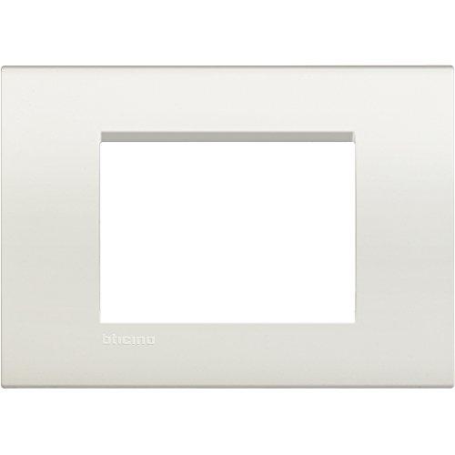 BTicino Livinglight Placca, 3M, Forma Rettangolare, White