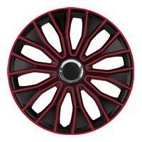 16 Zoll Radzierblenden / Radkappen Voltec pro Black red 16
