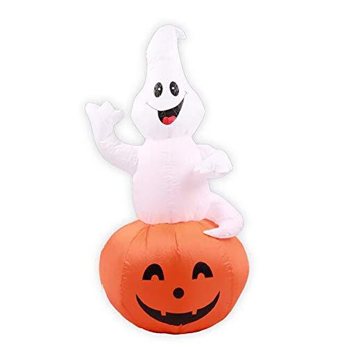 Aufblasbar Kürbis Sprengen Geist Weiß Hexe Halloween Draussen Garten Dekoration
