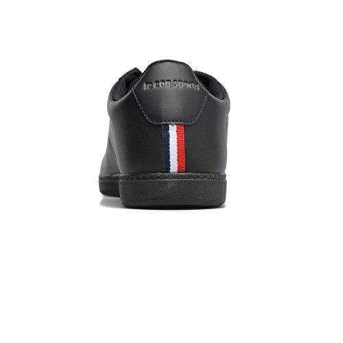 Le Coq Sportif Unisex-erwachsene Courtet S Lea Trainer Basso Noir (nero / Grigio Scuro Completo)
