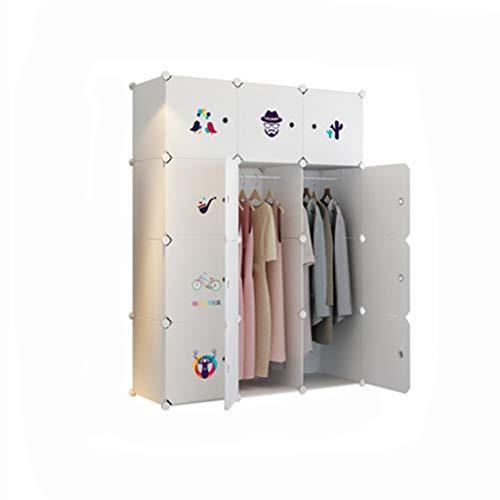Einfache Garderobe Schlafzimmer Schrank Montage Harz Lagerung Garderobe PC Harz Material einfache Garderobe Kunststoff einfach und modern (Color : White) (White Kleid Breeze)