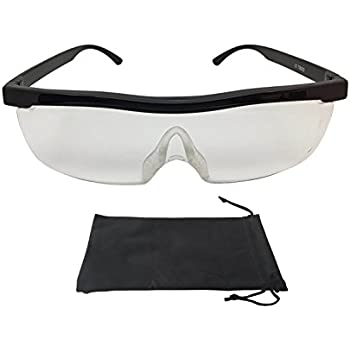 300/% Schwarz 500/% Vergr/ö/ßerungsbrille Lupenbrille Zauberbrille MAGNETO EDITION Lupe auf der Nase optische Vergr/ö/ßerung auf 200/%