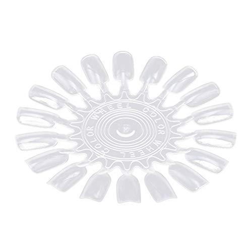 Timetries 18 Couleurs Nail Art roulettes Pratiques Rondes en Plastique Carte D'affichage Make Up Kit Trousse (Couleur Transparente)