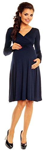 Zeta Ville maternité - robe jersey de grossesse - manche longue - femme - 890c Marine