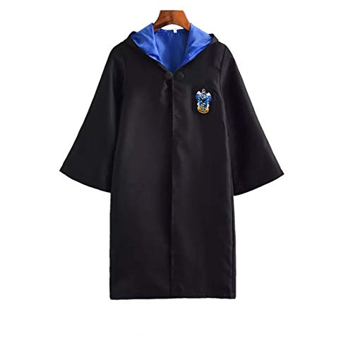 Cloak Robe for Boys and Girls Birthday, Halloween Kostümparty, Anime Peripheral Products, Realizing The Magician ' s Dream for Your Child,Ravenclaw,155 ()