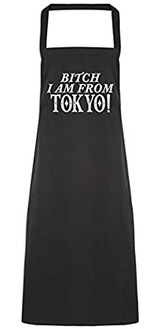 HippoWarehouse Bitch I am from Tokyo Apron kitchen cooking painting DIY onesize adult