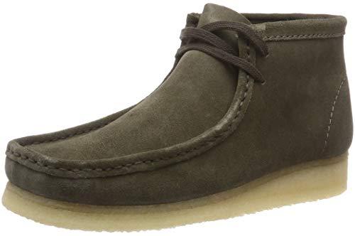 Clarks Originals Mens Wallabee Boot (Clarks Originals Herren Wallabee Chukka Boots, Grün (Olive Suede), 47 EU)