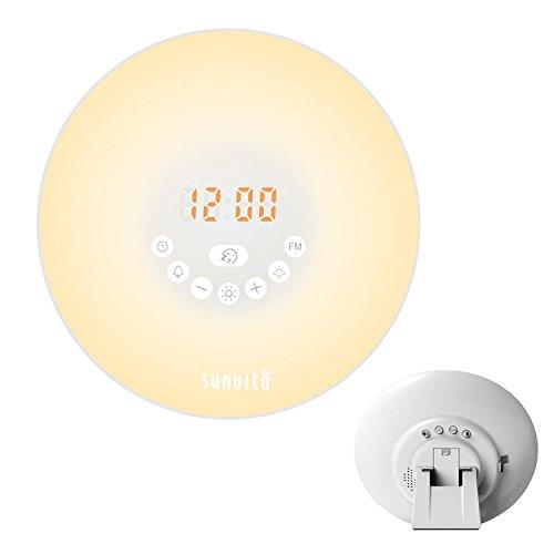 Sunvito Despertador de Luz Salida del Sol Reloj de Alarma 7 Colores...